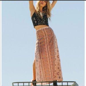 Spell Coyote Split Maxi Skirt